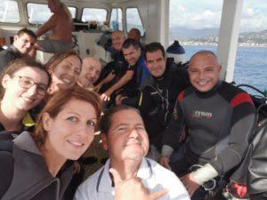 Grande gioia dopo la diving experience